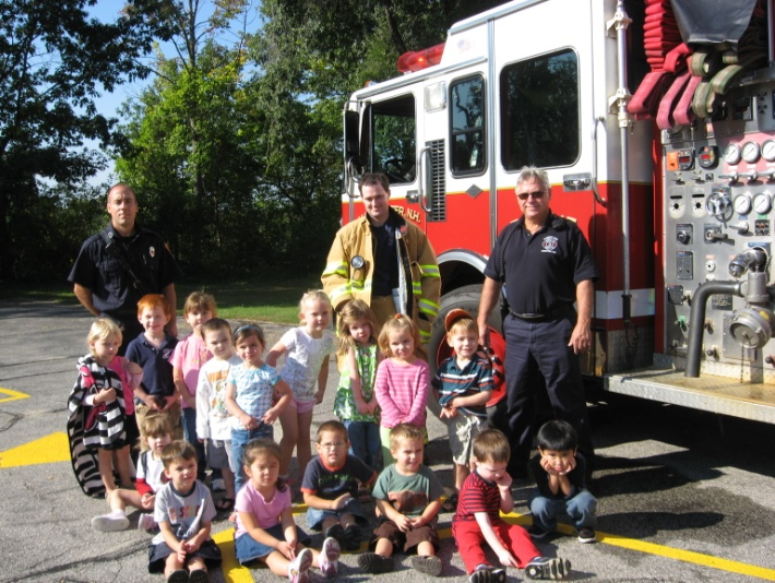 fire department with children