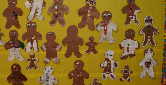 gingerbread man paper art