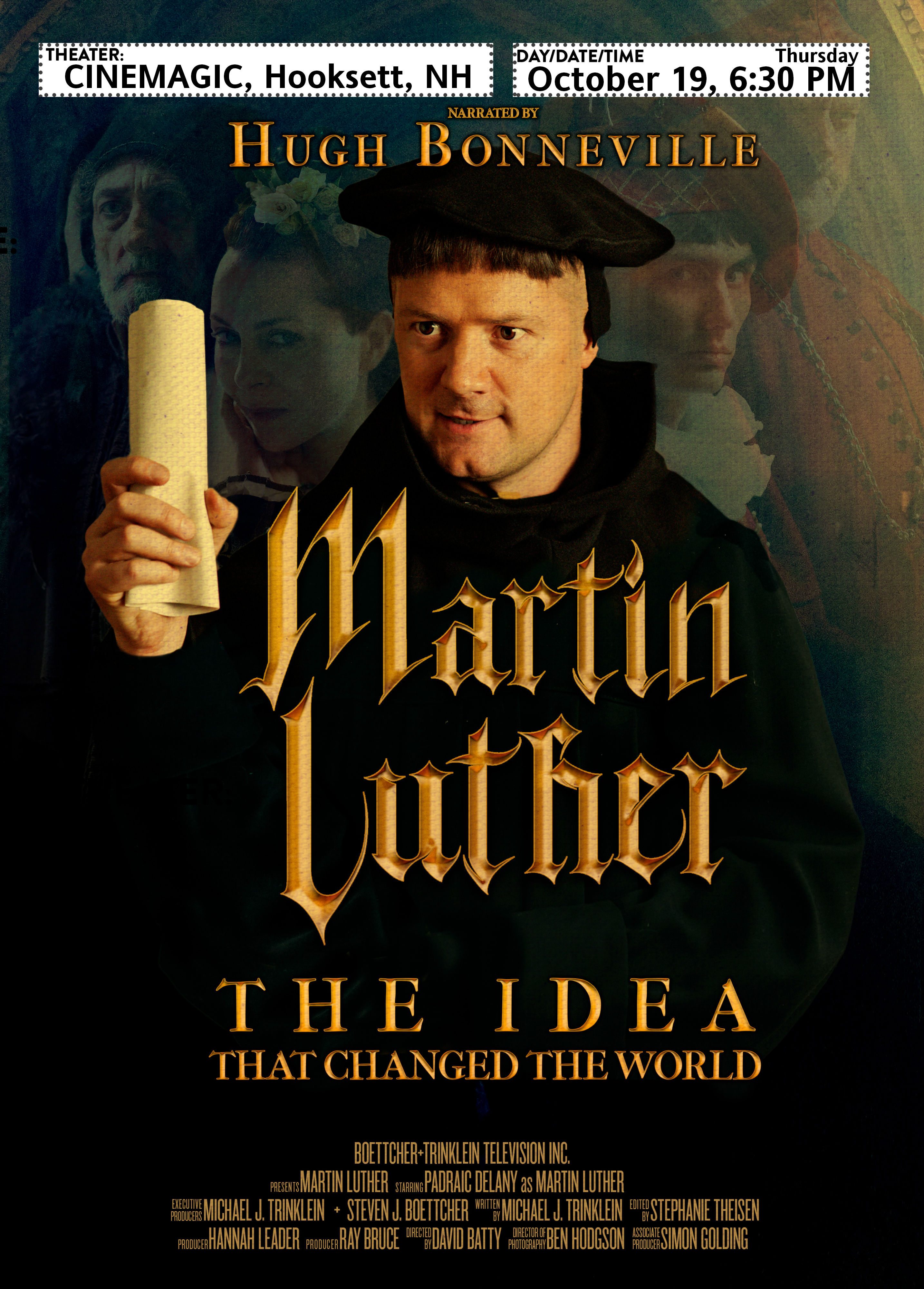 Martin Luther holding a parchment