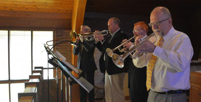 The brass section announces the resurrection!